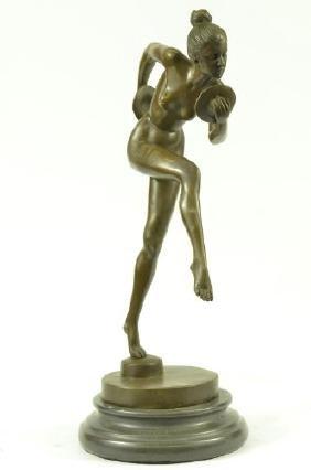 Nude Girl Dancing Bronze Marble Statue