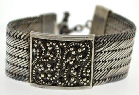 Vintage Lois Hill Sterling Silver Woven Bracelet