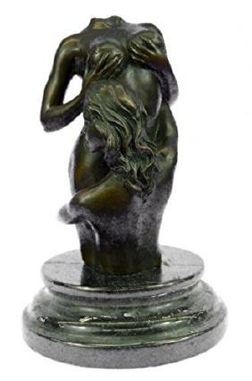Bust Of Naked Girls Bronze Sculpture