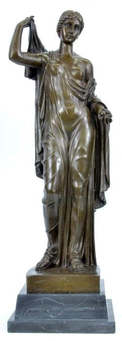 Bronze Sculpture on Marble base Statue