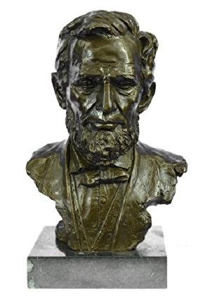 President Abraham Lincoln Bronze Sculpture on marble