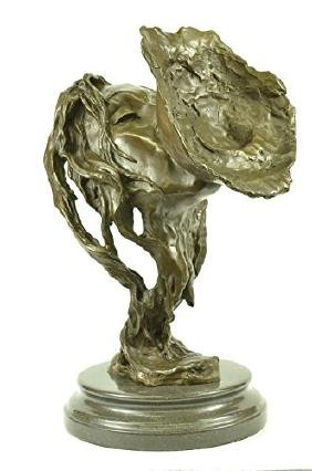 Lesbian Love Erotic Bronze Sculpture on marble base
