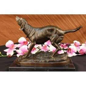 Hunting dog Bronze Sculpture Animal Edition figurine