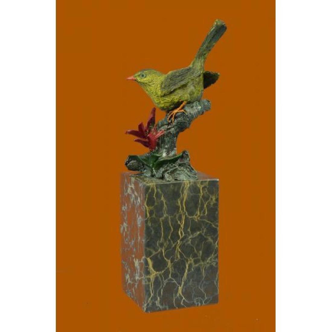 Hot Cast Multi Color Patina Love Bird Bronze Sculpture