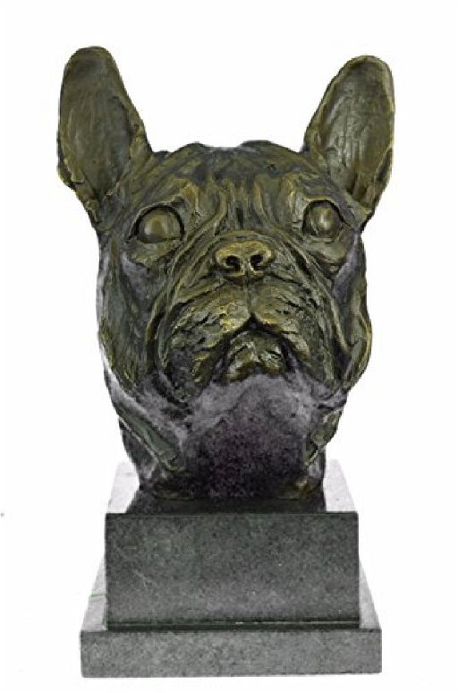 Man Best Friend French Bulldog Bronze Sculpture on - Aug 04