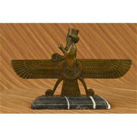 Art Deco Persian Warrior King Bronze Sculpture on