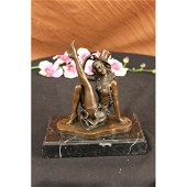 Jazz dancer Bronze figurine on Marble base Sculpture