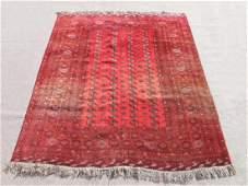 Very Beautiful Semi Antique Turkmen Design Afghan Rug