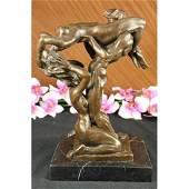 Nude Erotic Conversation Bronze Sculpture