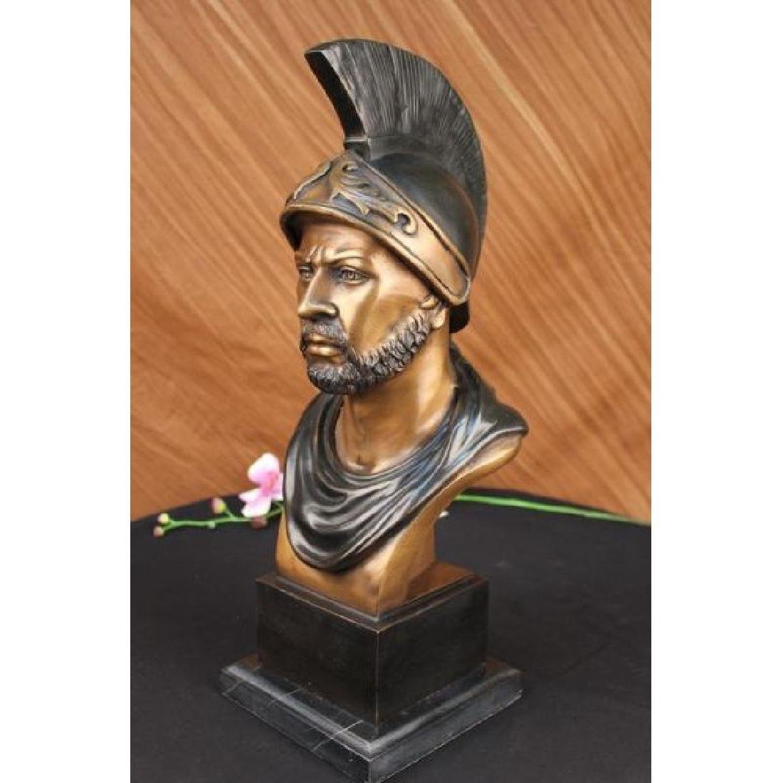 Auguste Moreau Roman Warrior Bust Bronze Sculpture