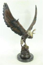 Two Tone American Eagle Bronze Statue