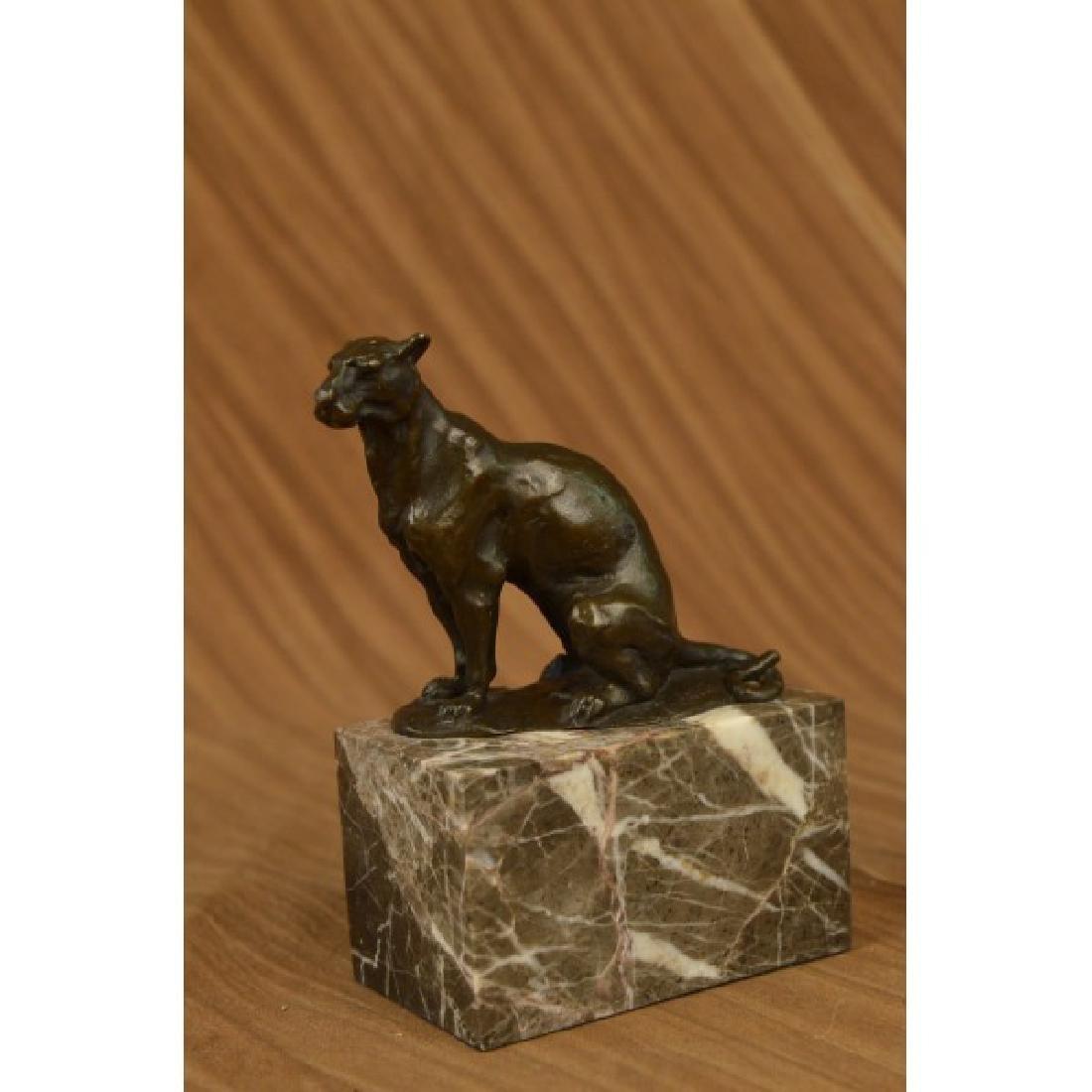 Bugatti Book End Bookend Cougar Mountain Lion Bronze