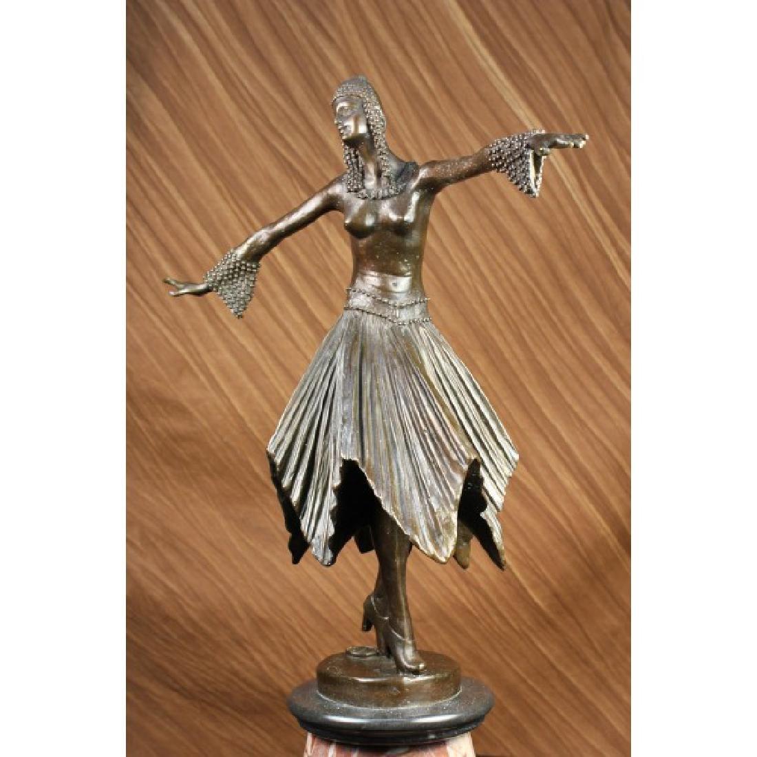 BEAUTIFUL ART DECO BRONZE DANCER BY D.H. CHIPARUS