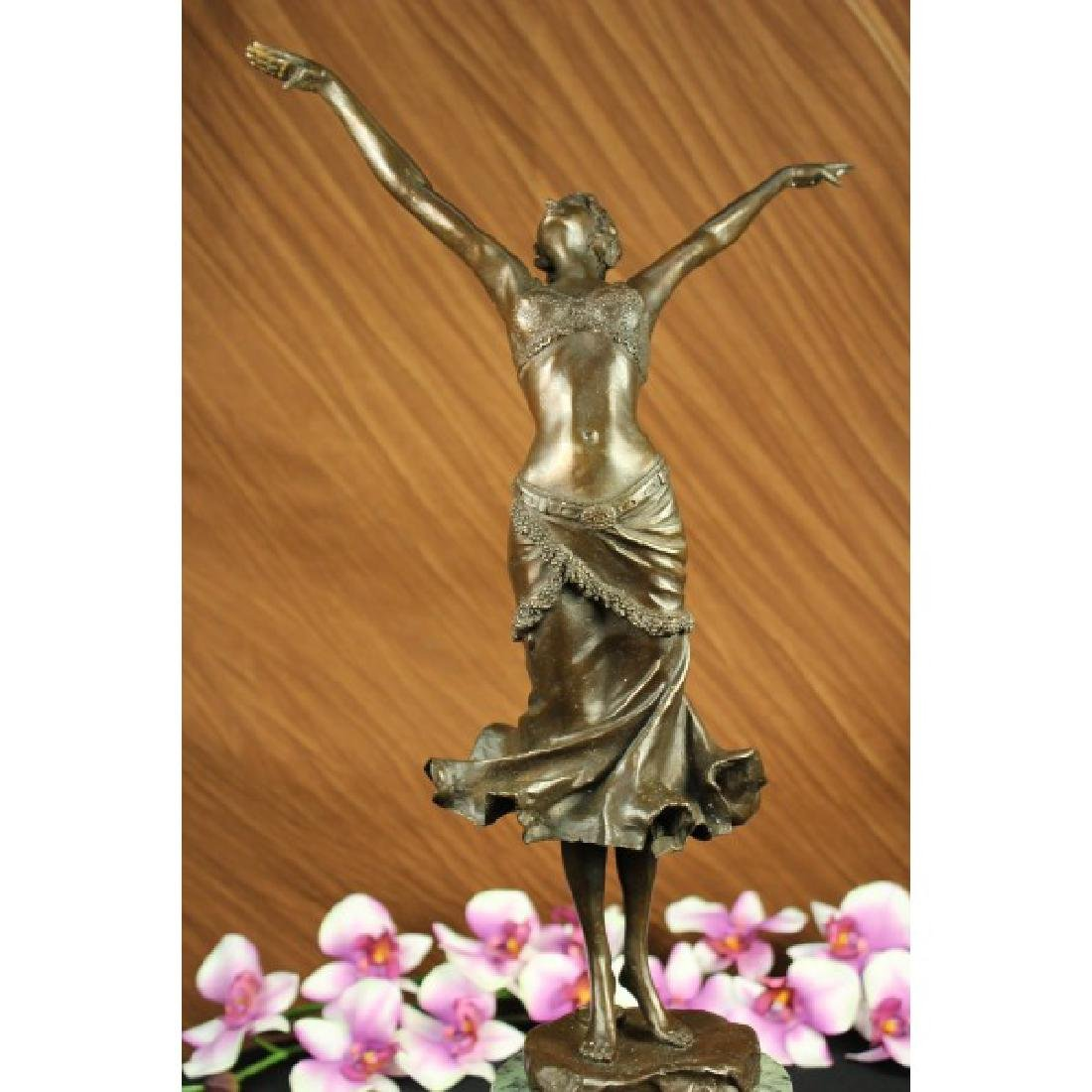 Art Deco Dancer by Philippe Bronze Statue