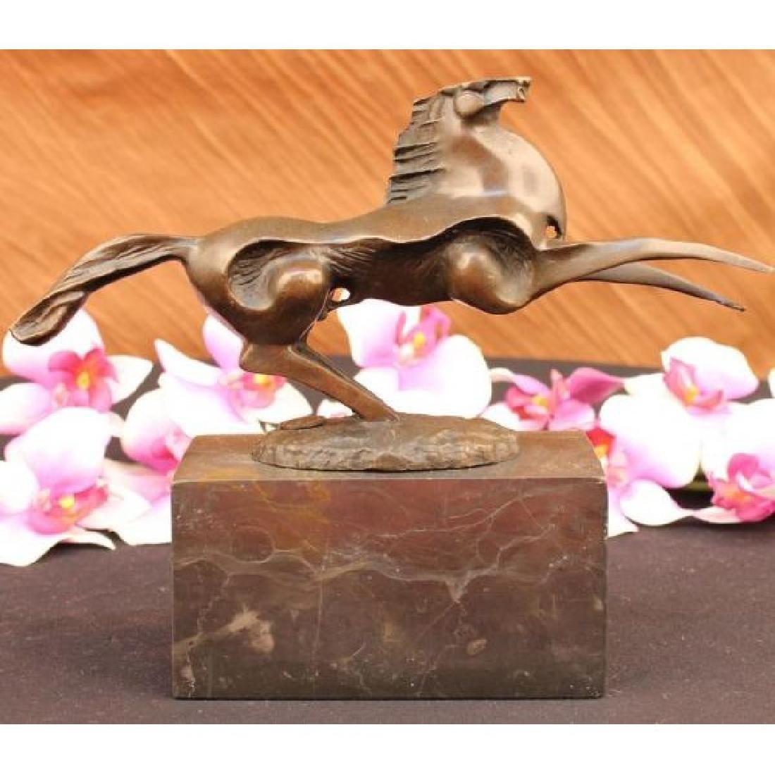 Abstract Modern Art Horse Stallion Bronze Sculpture