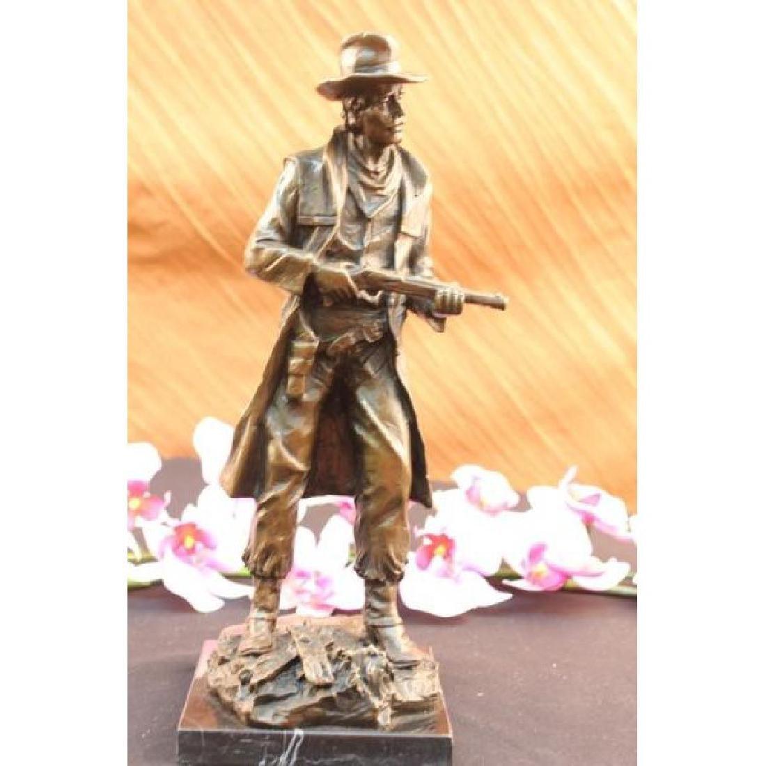 Milo Classic Cowboy W/ Gun Western Sculpture Marble