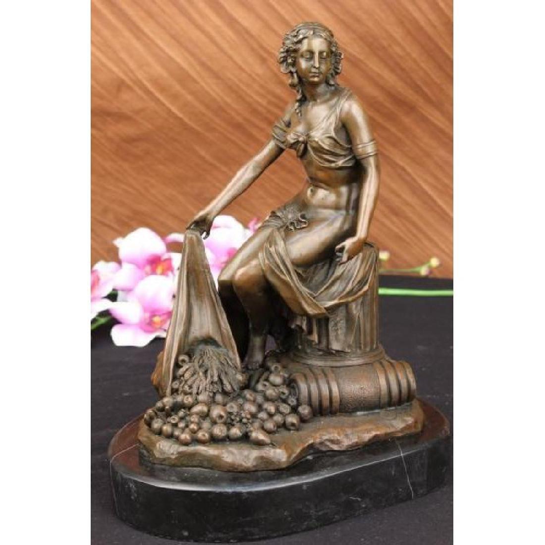 Vintage bronze statue ancient Roman-Greek mythology