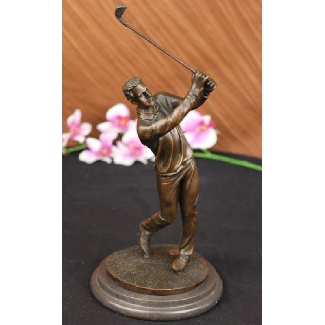 Bronze Statue Vintage Golfer Golfing Trophy Bobby Jones