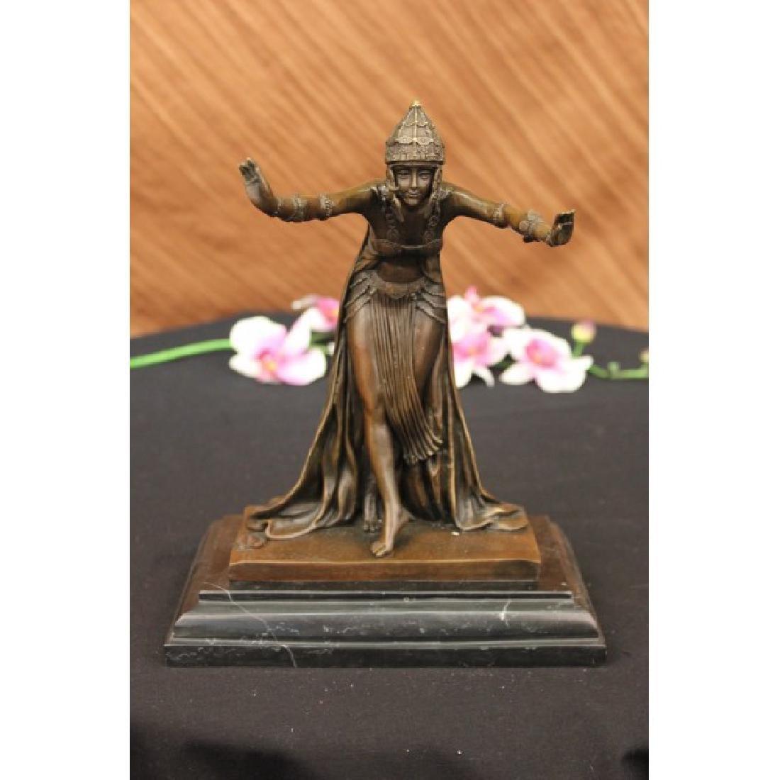 Bronze Art Deco The Assyrian Dancer, CL.J.R.COLINET Art