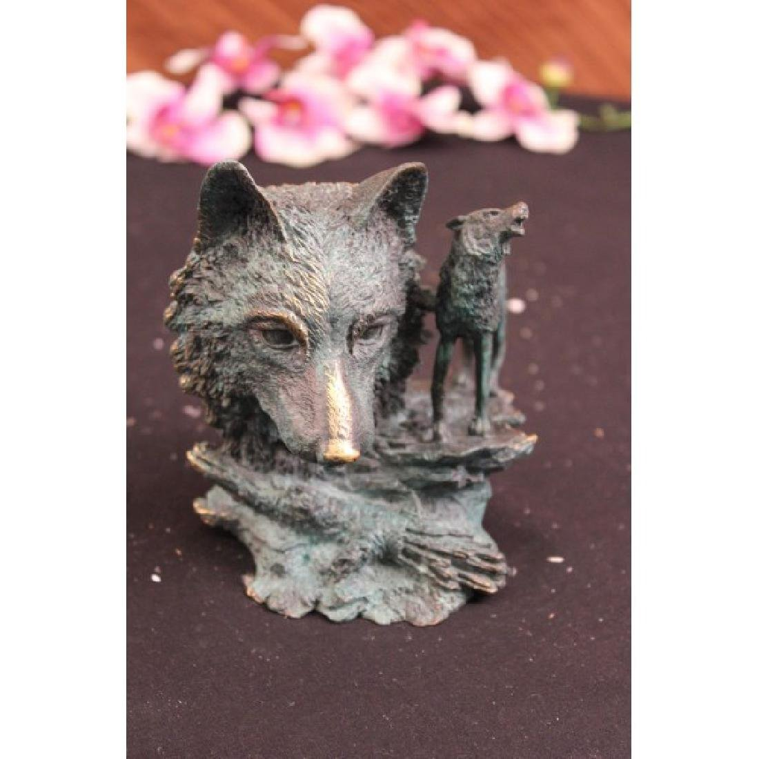MILO DECO EUROPEAN WOLF BRONZE SCULPTURE FIGURE