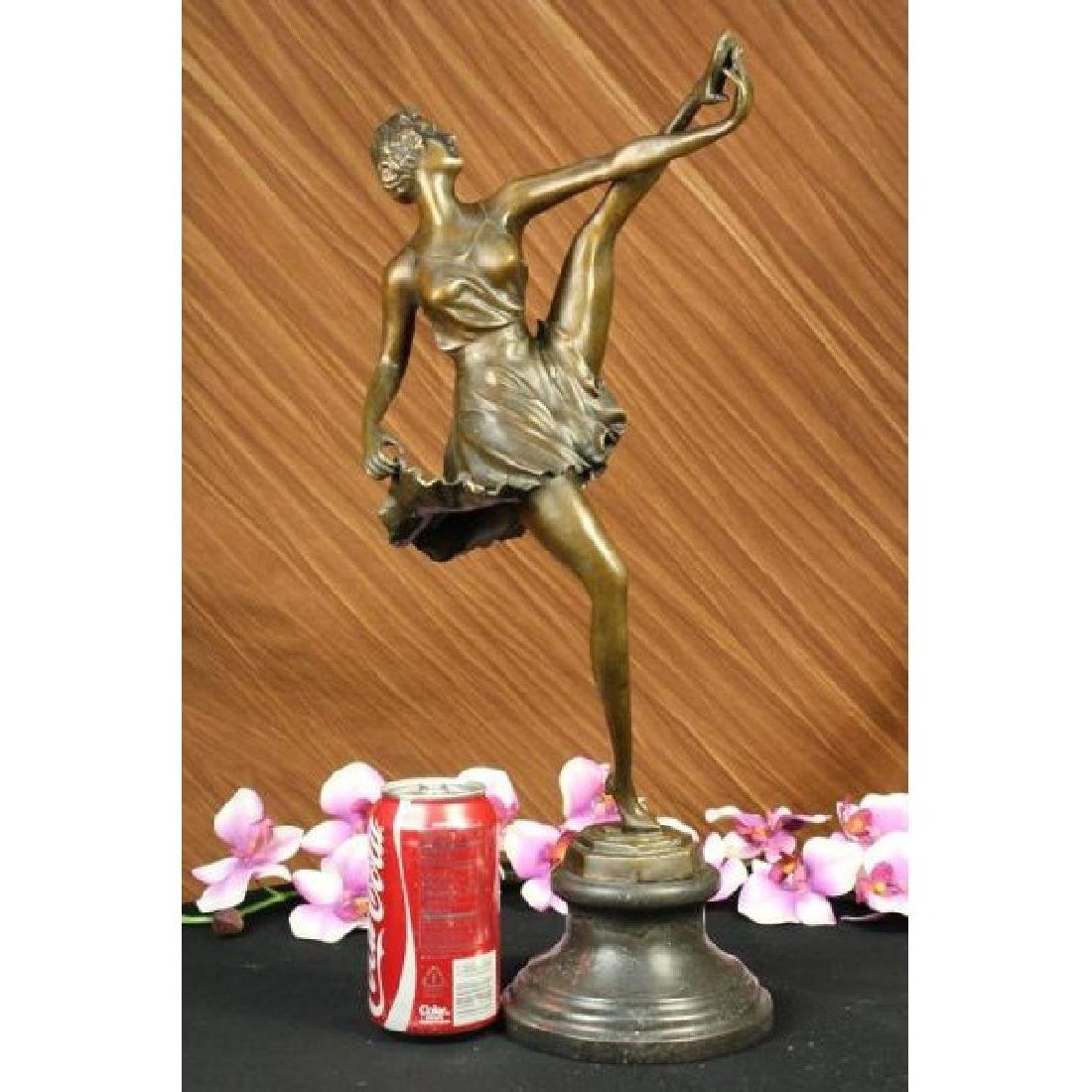 THE RUSSIAN DANCER ART DECO MARBLE BASE HOT CAST BRONZE