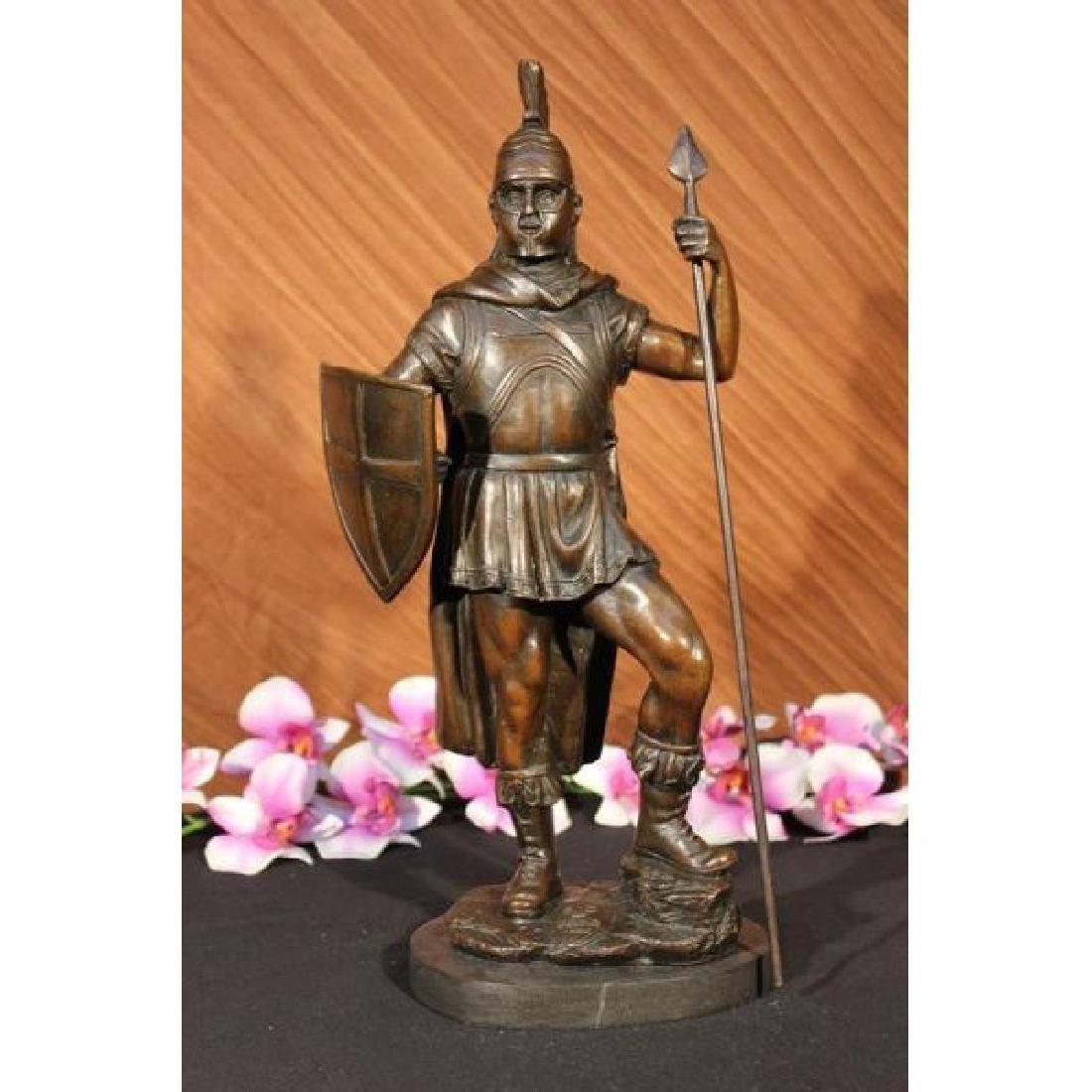 BRONZE STATUE ROMAN GOD OF WAR WARRIOR MILITARY