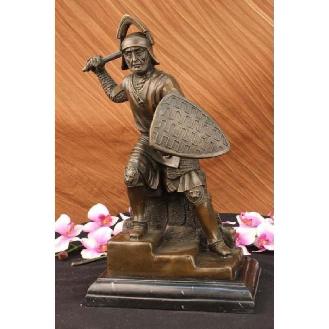 Kamiko Japanese samurai Warrior Bronze Marble Sculpture