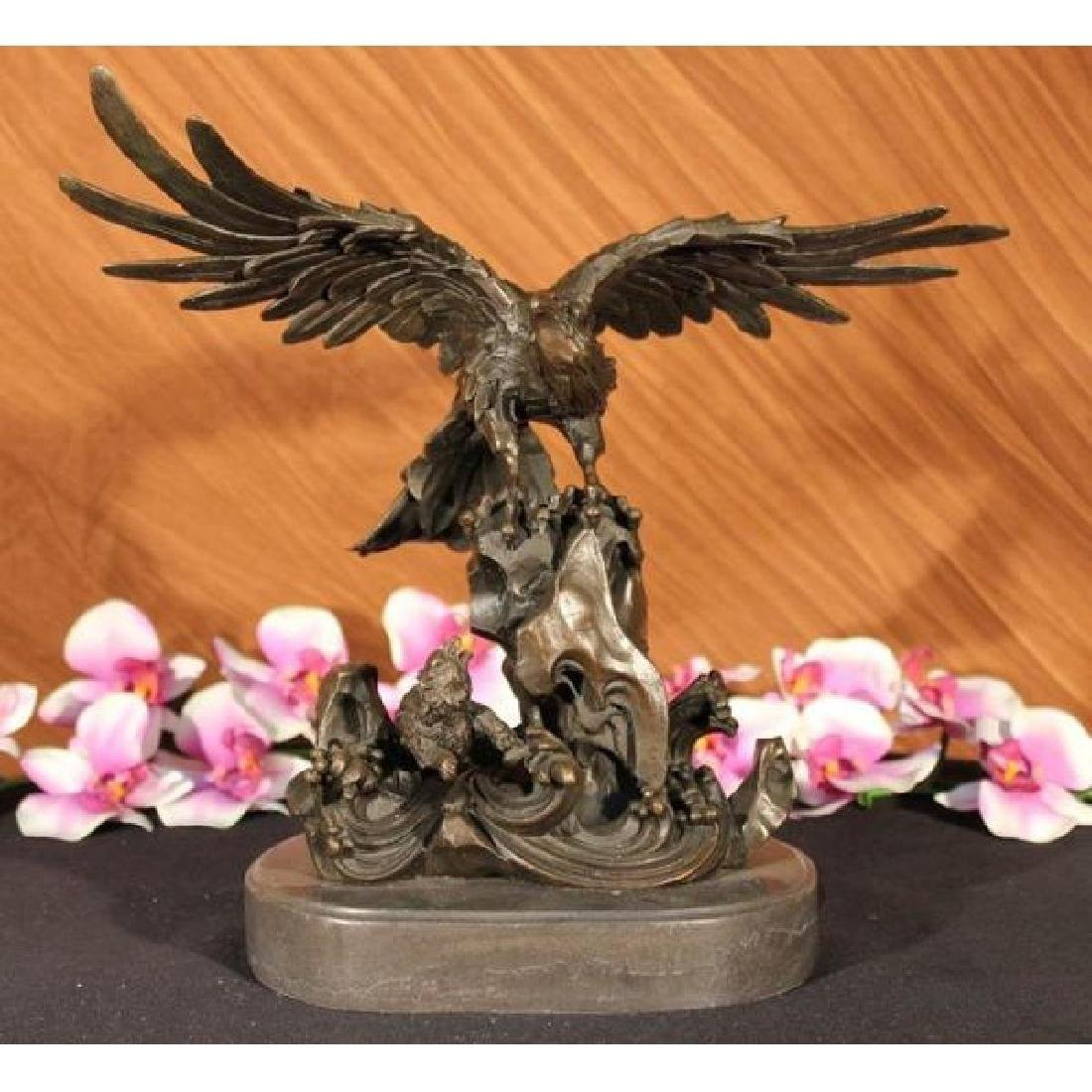 EAGLE ON WAVES REAL 100% BRONZE