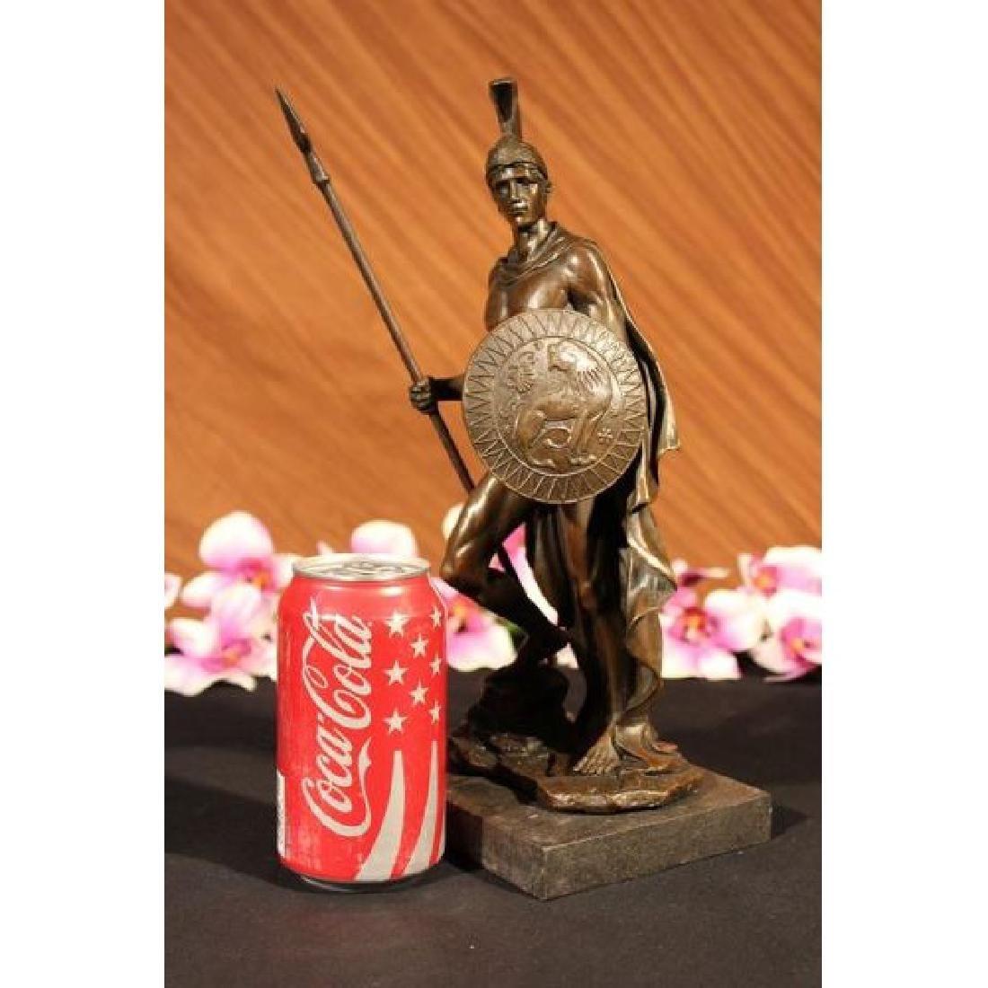 Bronze Statue Marble Classical Roman Warrior Nobleman