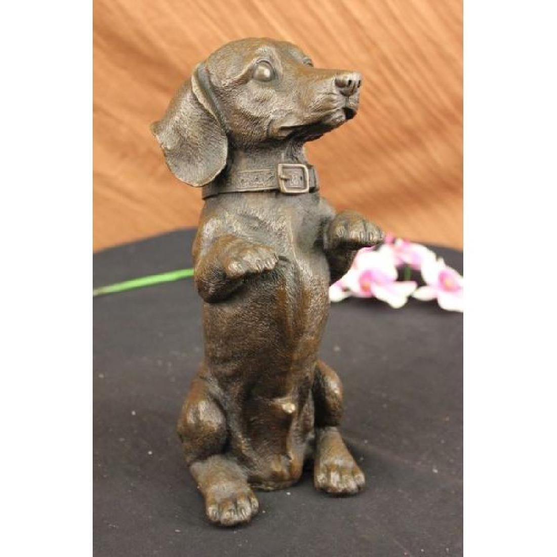 Hand Made Large Pup Hush Puppy dog Bronze Sculpture