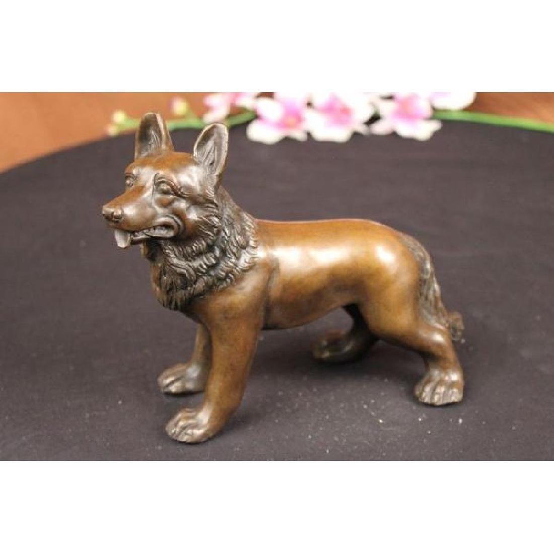 Vienna Bronze German Shepherd Dog Animal Pet Bronze