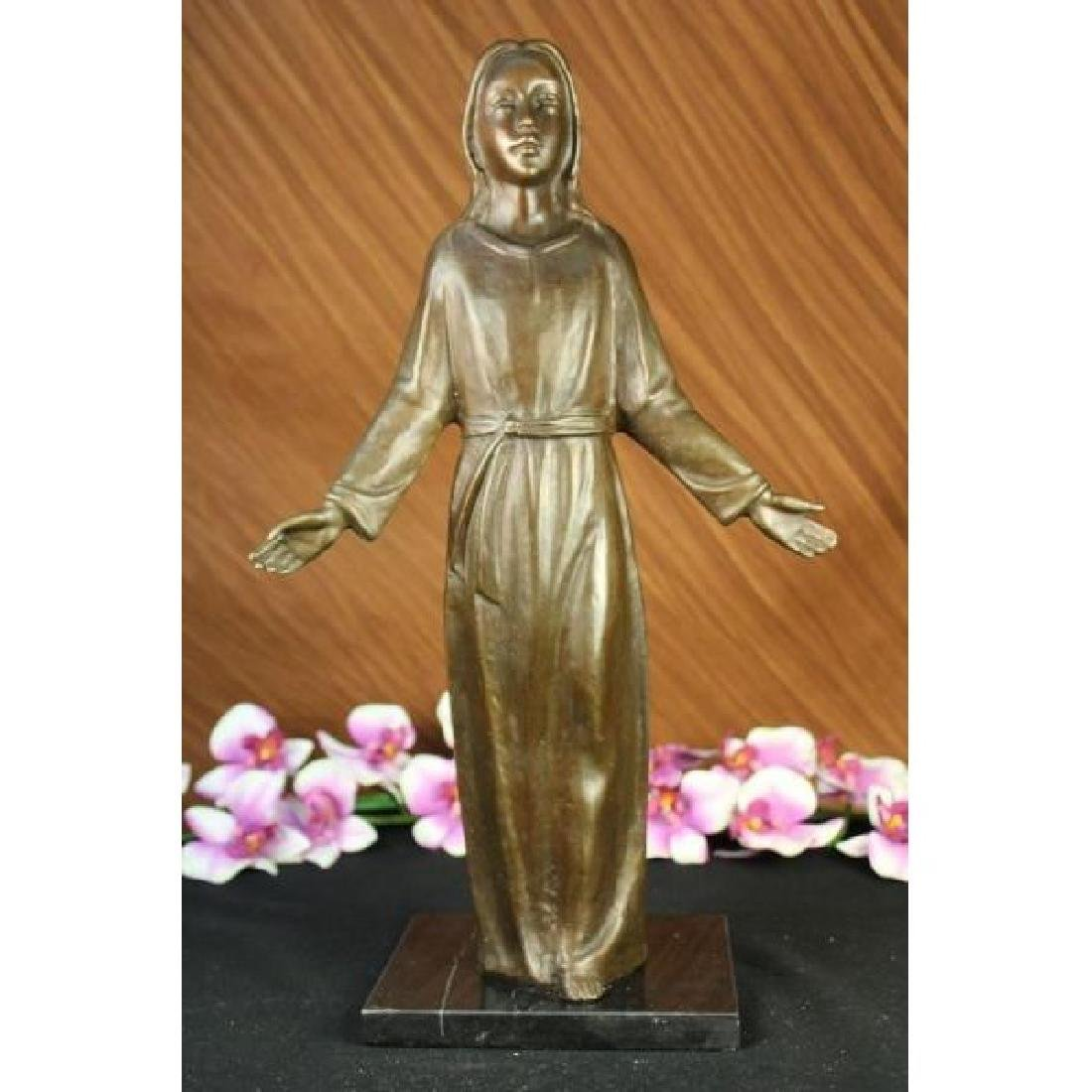 Western Bronze Marble Art Statue Jesus and Holy goddess