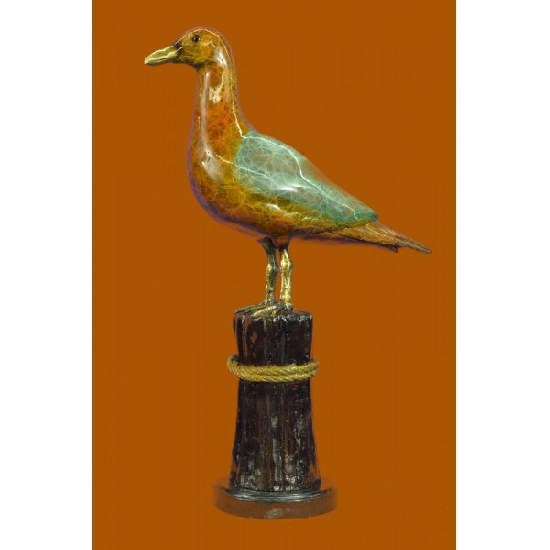LIMITED EDITION GORGEOUS SEAGULL BRONZE SCULPTURE ON