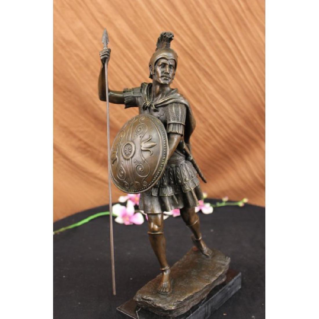 Drouot Roman Legion Soldier Warrior Bronze Marble