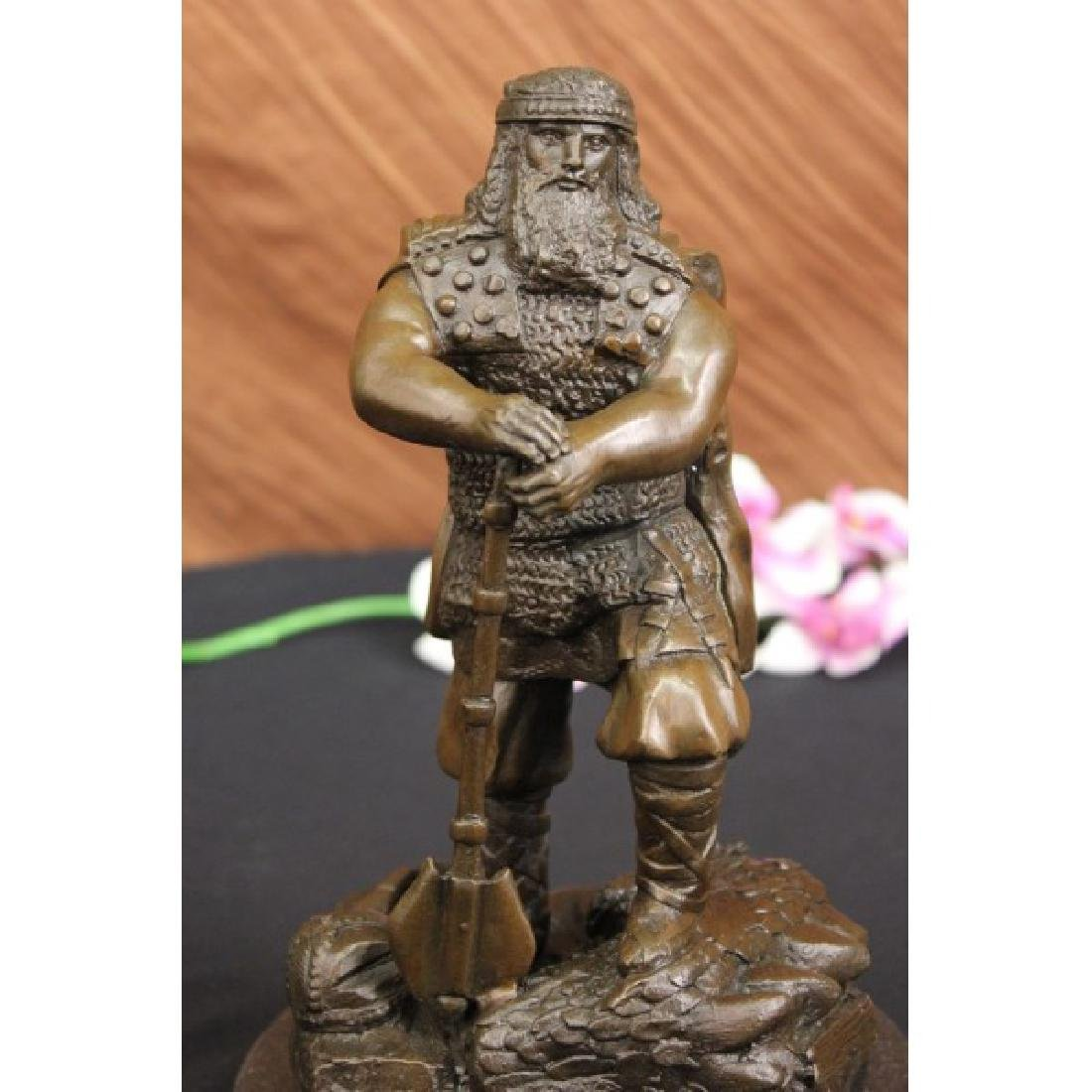 Heavy Armor Powerful Huscarl Viking Bronze Sculpture by