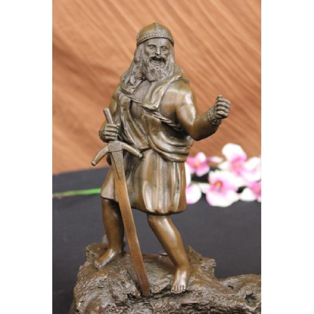 Chris Miles Viking with Sword Bronze Sculpture Warrior