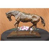 Extra Large Bronze Sculpture Horse Trots Stallion