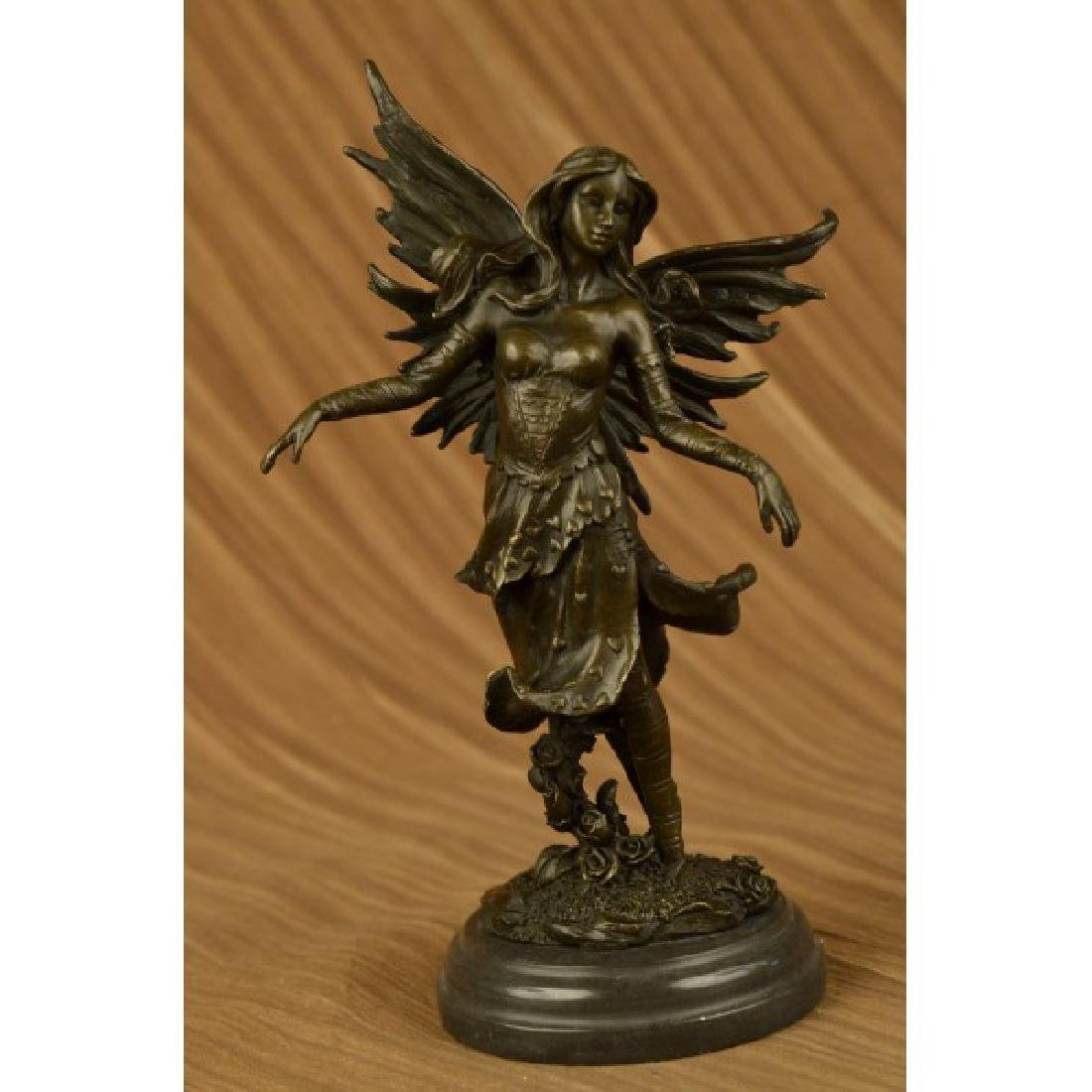 Mythical Bronze Fairy Angel Sculpture by Italian Artist