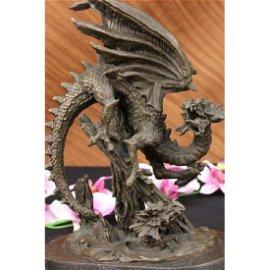 BRONZE DRAGON STATUE Chinese Asian Art Sculpture