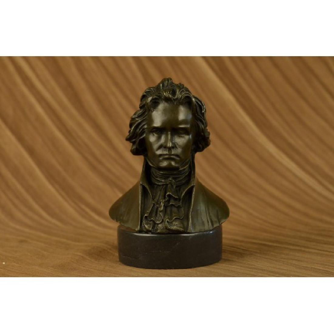 Famous Composer Beethoven Bronze Sculpture Marble Base