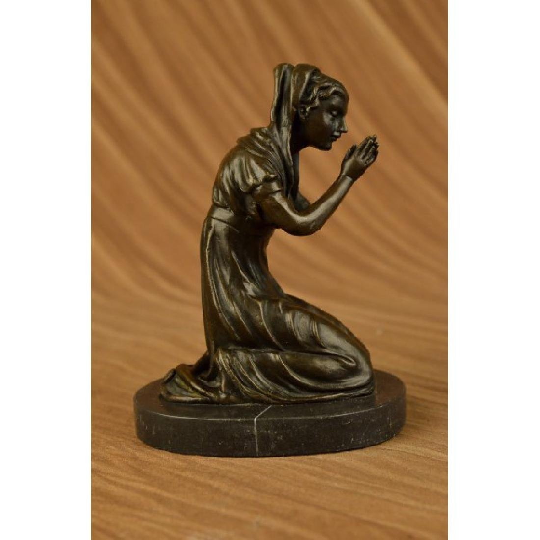 Our Blessed Mother Virgin Mary Praying Bronze Sculpture