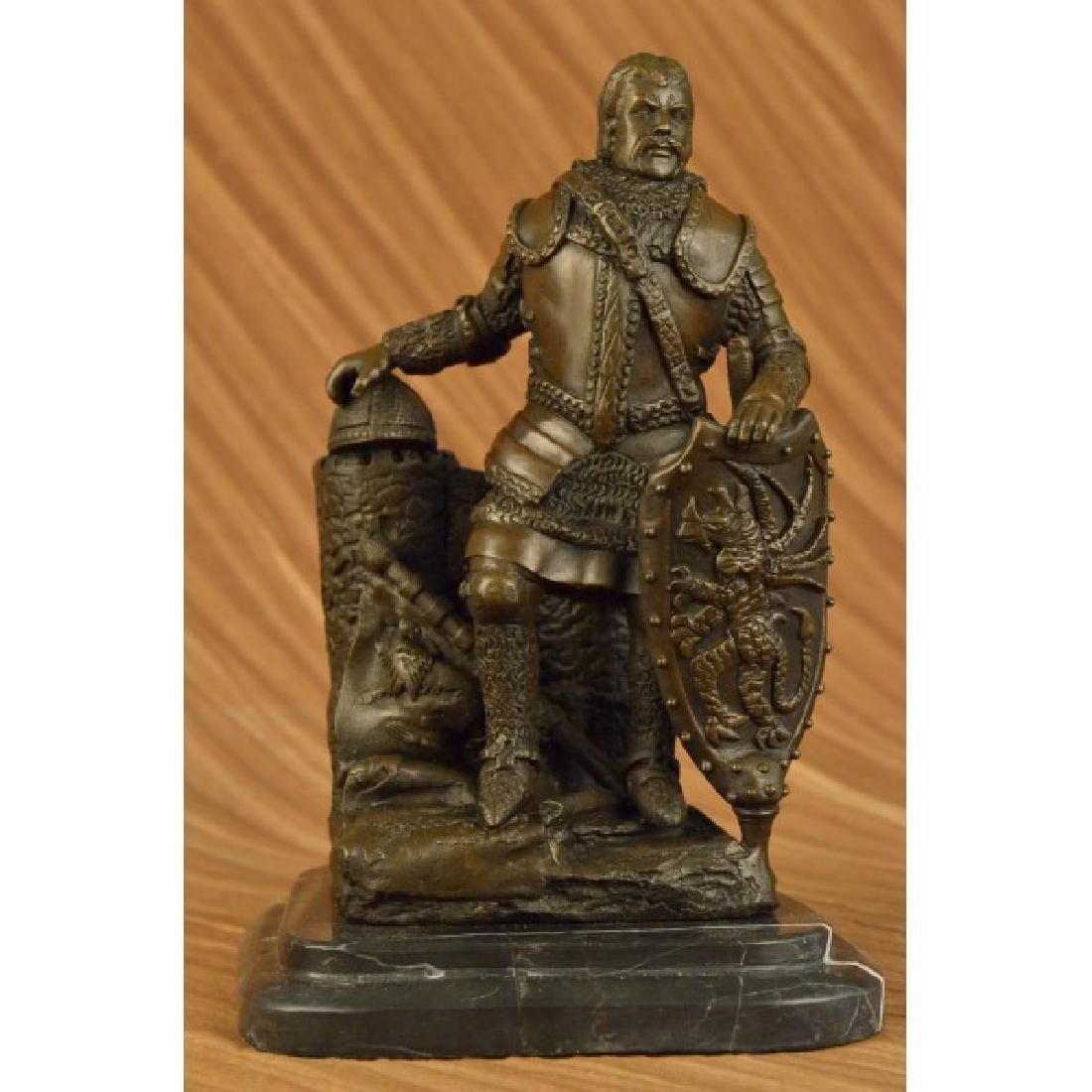 Dalov Heavy Armor Viking Warrior Bronze Sculpture