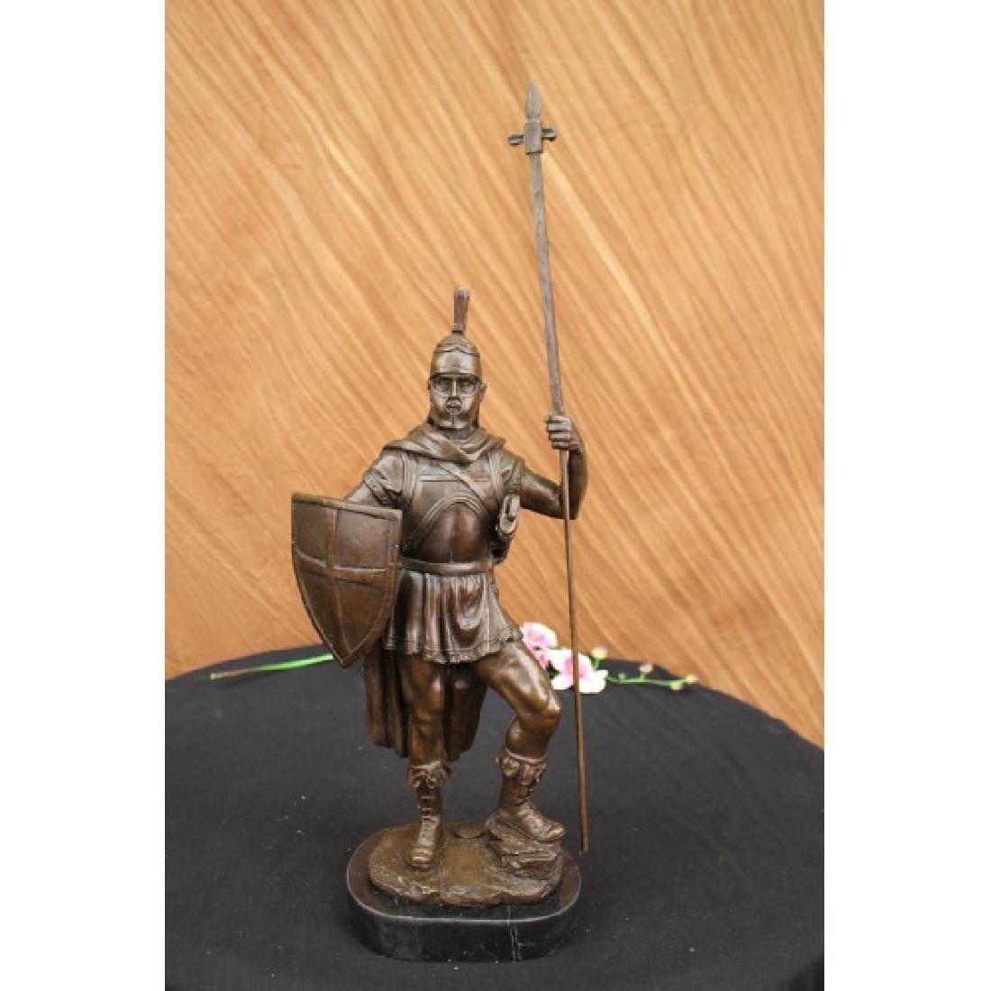 Bronze Sculpture Roman Warrior with Armor Bronze