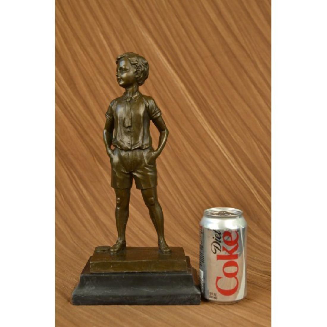 Preiss Young Boy School Boy Bow Tie Bronze Sculpture