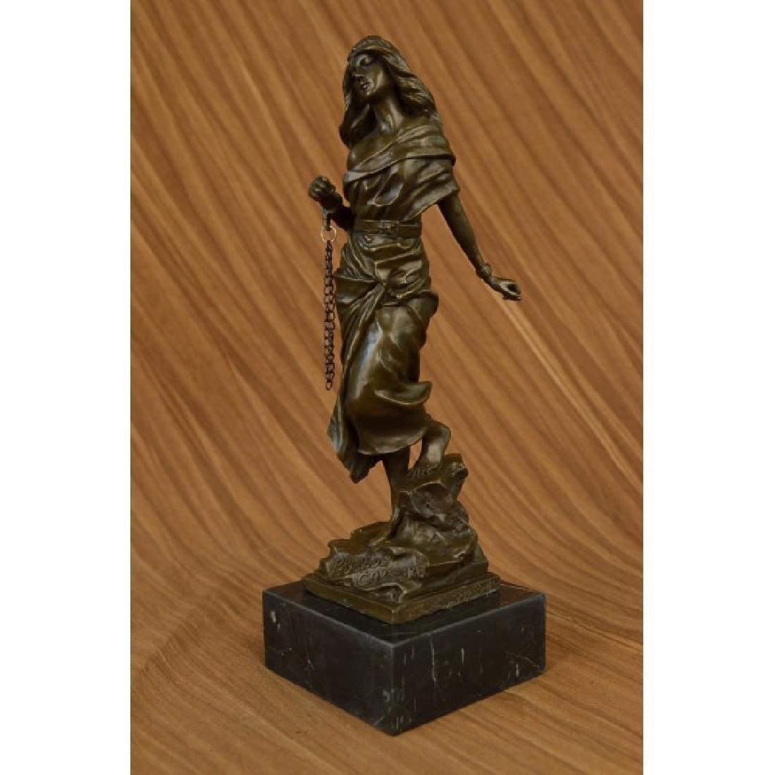 Jean Patoue French Artist Captive Sexy Woman Bronze