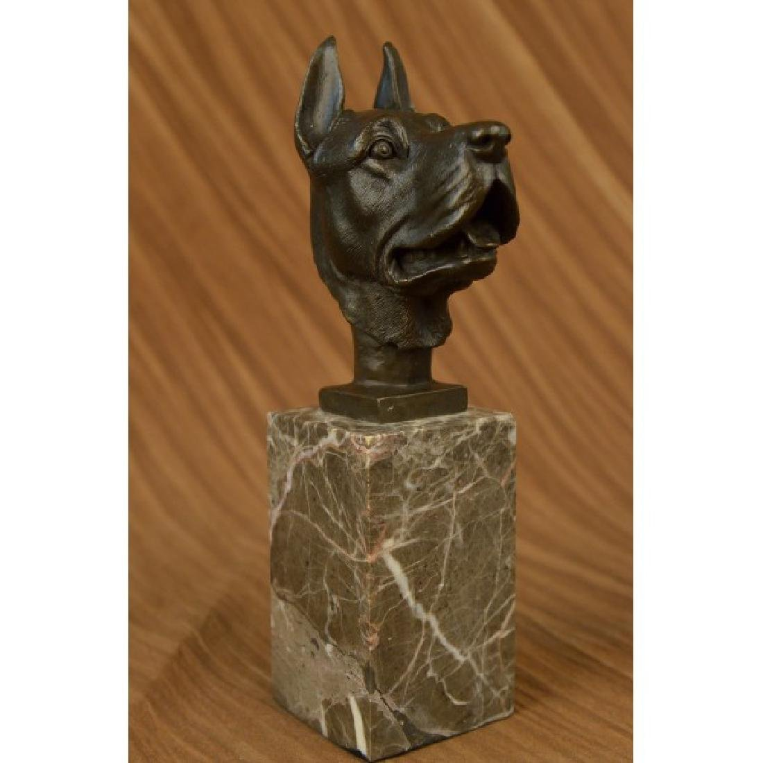 Yanez Great Dane Dog Lover Bronze Sculpture Art Deco