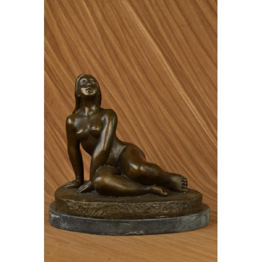 Milo Curvaceous Nude Woman Tribute to Botero Bronze