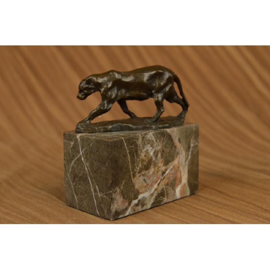 Bugatti Panther Lioness Bronze Sculpture Bookend Book