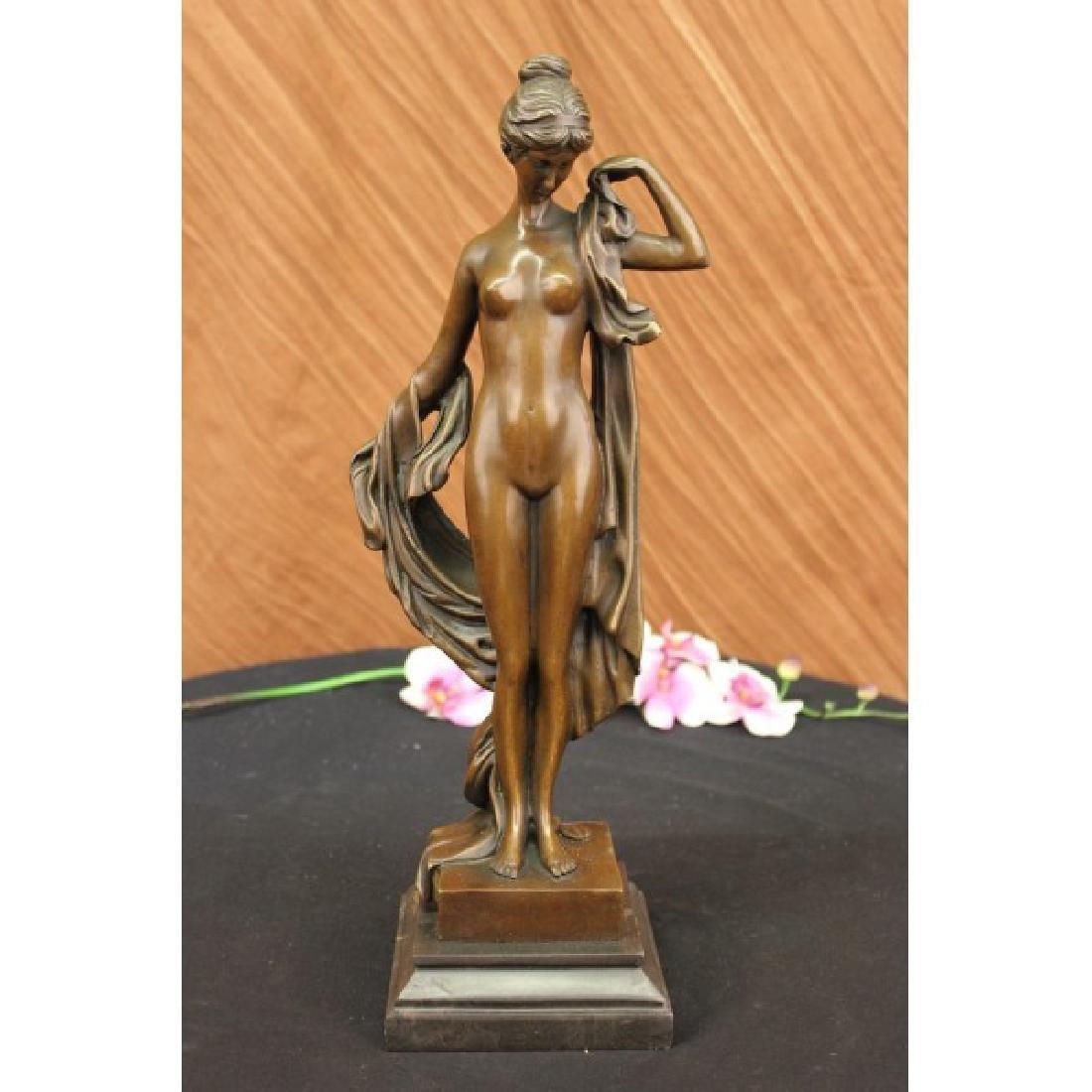 Bronze Sculpture Sweet and Demure Nude Woman Bronze