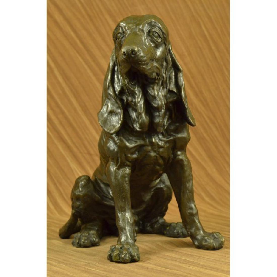 Hound Dog Garden Backyard Decor Bronze Sculpture Statue